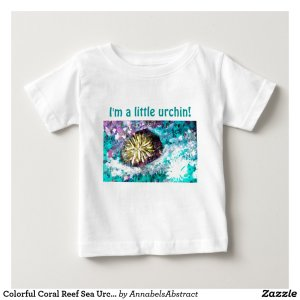 Colorful Coral Reef Sea Urchin Baby T-Shirt
