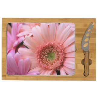 Colorful Daisies Rectangular Cheeseboard