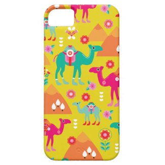 Colorful desert camel egypt peramide iPhone 5 covers