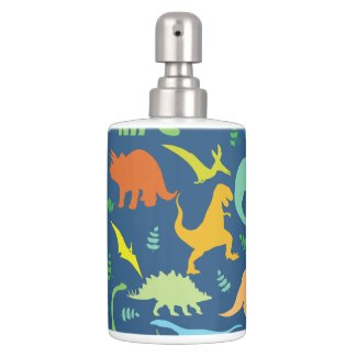 Colorful Dinosaur Pattern Soap Dispensers