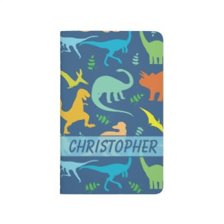 Colorful Dinosaur Pattern to Personalize Journals