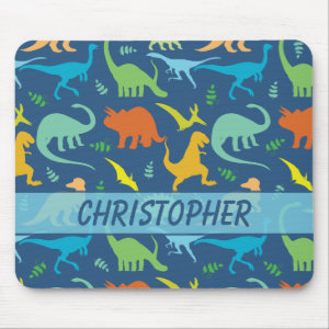Colorful Dinosaur Pattern to Personalize Mouse Pad