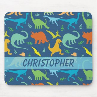 Colorful Dinosaur Pattern to Personalize Mousepad