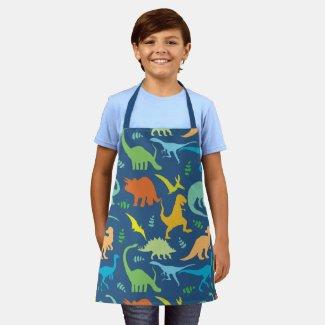 Colorful Dinosaurs Apron
