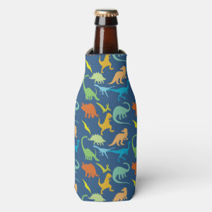 Colorful Dinosaurs Bottle Cooler