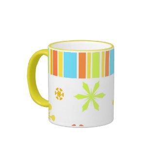 Colorful floral stripes - Mug