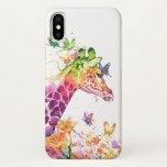 COLORFUL GIRAFFE AND BUTTERFLIES iPhone XS CASE