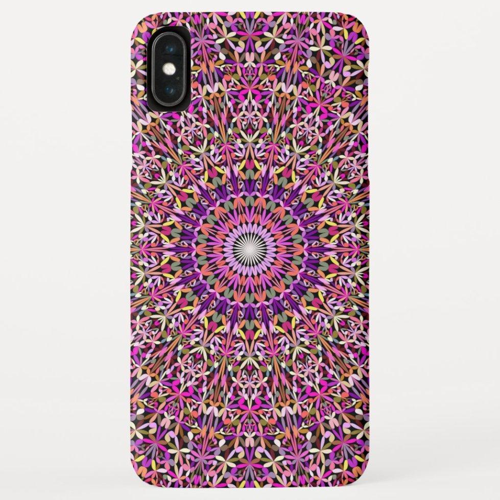 Colorful Girly Lace Garden Mandala Case-Mate iPhone Case