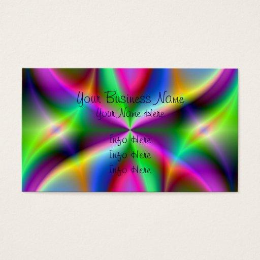 Colorful Metallic Fractal Lustre Business Card