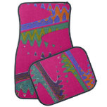 Colorful Mod pink abstract Car Mat