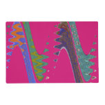 Colorful Mod pink abstract Laminated Place Mat