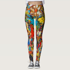 Colorful Paint Splatter Photo Leggings