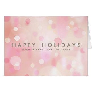 Pink Christmas Lights Cards Zazzle