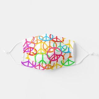 Colorful Peace Symbols Bright Cloth Face Mask