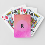 Colorful Pink Orange Texture Design Bicycle Playing Cards