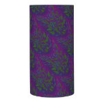 Colorful Purple Green Splatter Abstract Flameless Candle