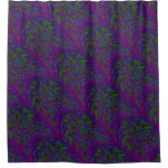 Colorful Purple Green Splatter Abstract Shower Curtain