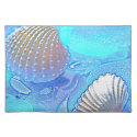 Colorful sea glass placemat for your home