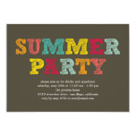 ❤️ Colorful Summer Party Invitation