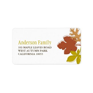 Colorful Thanksgiving Autumn Leaves Address Labels