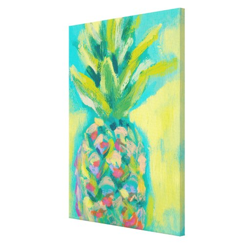 Colorful Tropical Pineapple Canvas Print