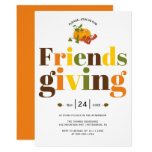 Colorful typography pumkin Friendsgiving Invitation