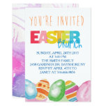 Fun Rainbow Colored Easter Brunch Invitation