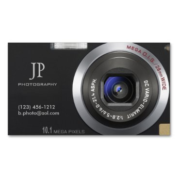 Compact Digital Camera Photographer Magnetic Business Card