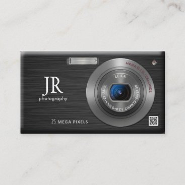 Compact Digital Camera Professional Photographer Business Card