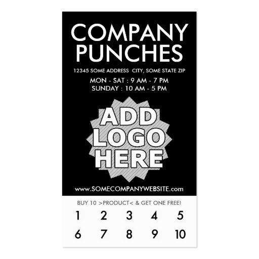 Punch Cards For Business Image Collections Business Card