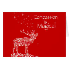 Compassion is Magical Greeting Cards