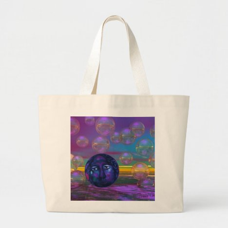 Compassion – Violet and Gold Awareness Large Tote Bag