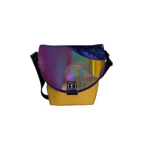 Compassion – Violet and Gold Awareness Mini Messenger Bag
