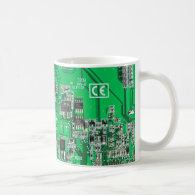 Computer Geek Circuit Board Coffee Mug Mugs