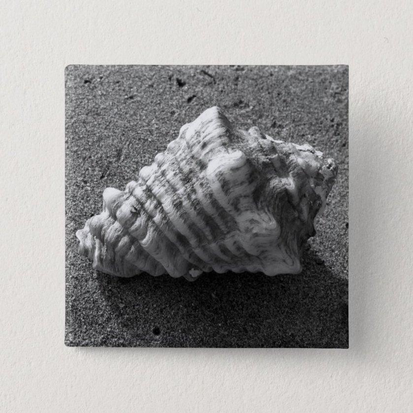 Conch Seashell Sand Beach Button Pin