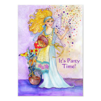 Confetti Fairy Birthday Party Invitation