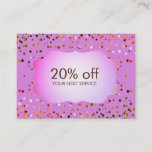 Confetti Pink Coupon Card Voucher Discount Gift