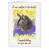 Congratulations on new pet cards, customize card