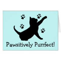 Congratulations on Your New Kitten with Paw Prints Card