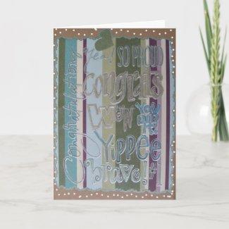 Congratulations - Scrapbook 1 - Seasons Card card
