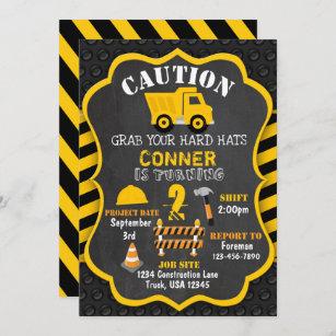 construction birthday invitations zazzle