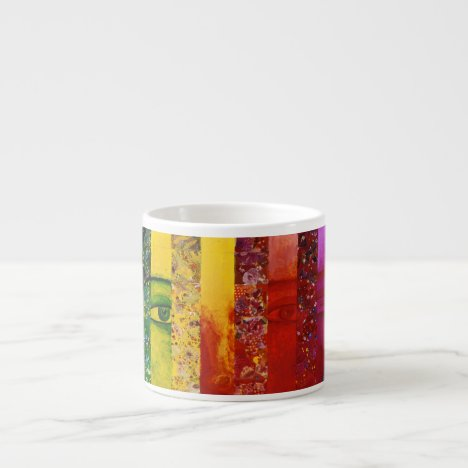 Conundrum I – Abstract Rainbow Woman Goddess Espresso Cup