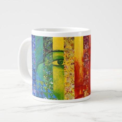 Conundrum I – Abstract Rainbow Woman Goddess Giant Coffee Mug