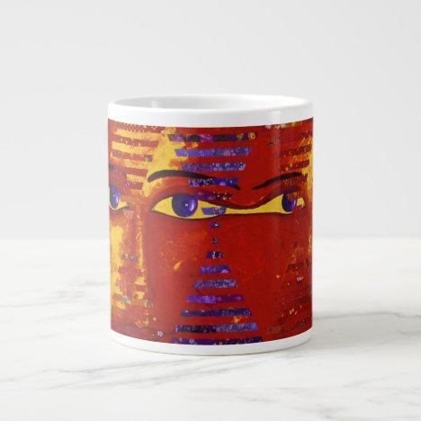 Conundrum III - Abstract Purple & Orange Goddess Giant Coffee Mug