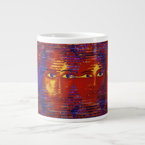 Conundrum III - Abstract Purple & Orange Goddess Large Coffee Mug