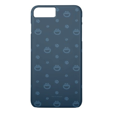 Cookie Monster and Cookies Blue Navy Pattern iPhone 8 Plus/7 Plus Case