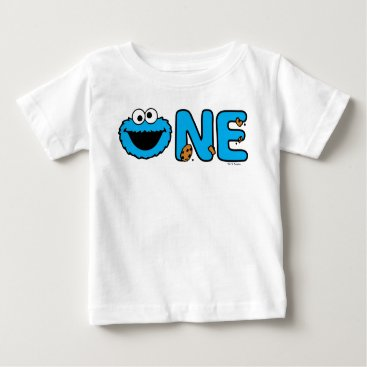 Cookie Monster First Birthday Baby T-Shirt