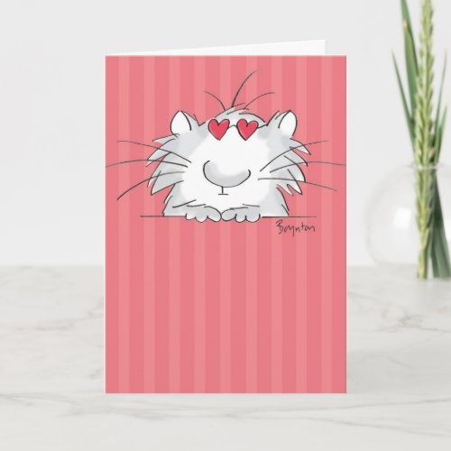 COOL KITTY Valentines by Boynton Holiday Card