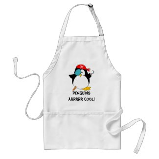Cool Pirate Penguin Aprons