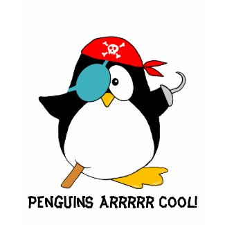 Cool Pirate Penguin shirt